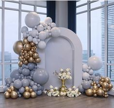 Ok, this is next level and you know it! How perfect is this look for a bridal shower, birthday or in our case the most modern and chic baby… Balloon Backdrop, Balloon Decorations Party, Balloon Garland, Birthday Party Decorations, Backdrop Decor, Deco Baby Shower, Baby Shower Parties, Baby Shower Themes, Baby Boy Shower