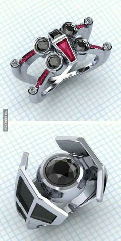 For star wars fans marriage rings