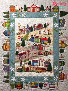Ideas Patchwork Weihnachten Wandbehang You are in the right place about patchwork quilting beginner Here we offer you the most beautiful pictures about the patchwork quilting kids you a House Quilt Patterns, House Quilt Block, House Quilts, Block Patterns, Quilting Projects, Quilting Designs, Applique Quilt Patterns, Quilting Ideas, Wool Applique Quilts