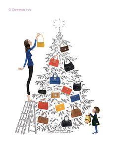 Two Loves Have I, my Handbag and Paris - O Christmas tree - www.longchamp.com