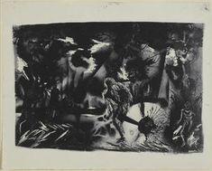 Figures dans un paysage - (Jackson Pollock)