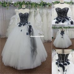 Wholesale Wholesale - Buy - 2014 Black And White Tulle Ball Gown Wedding Dress Bridal Gowns/Prom Dresses SL-3940, $117.49 | DHgate