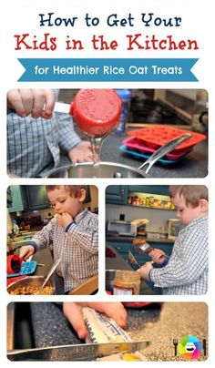 Kids in the Kitchen - Healthier Rice Krispie Treats Healthy Rice, Healthy Eating For Kids, Healthy Treats, Best Cooking Oil, Cooking Food, Cooking With Kids, Creative Kids, Summer Recipes, Kids Playing