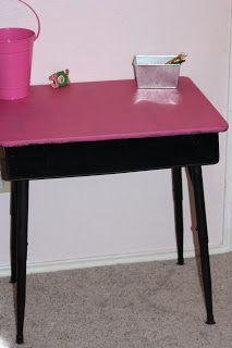 DIY School Desk Makeover #paint #redo