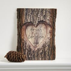 LOVE this Personalized Romantic Wood Sign! You can personalize it with any 2 names and optional date - it's such a unique Valentine's Day gift! Makes a great wedding and anniversary gift too!