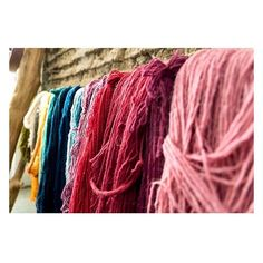 hand crafted for the greater good // hand-dyed wool custom colors dried in the sun