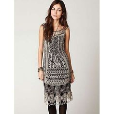 Gorgeous 1920's style crochet tank dress.