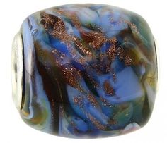 """Fenton Artisan Crafted Glass Bead - My Country Girl - .76"""" Oval"""