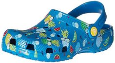 crocs Classic Summer Fun K Clog (Toddler/Little Kid), Ultra Marine, M US Little Kid: Fully Molded Croslite Crocs Classic, Partner, Summer Fun, Girls Shoes, Clogs, Kids, Inspiration, Image Link, Style