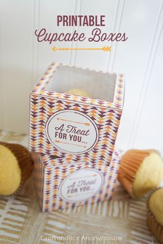 These Printable Cupcake Boxes make the perfectgift!