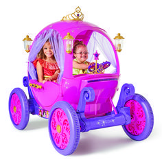 24 Volt Disney Princess Carriage Ride-On for Girls by Dynacraft, Pink Kids Ride On Toys, Toys For Girls, Kids Toys, Car Girls, Children Play, Girl Car, Children's Toys, Disney Princess Carriage, Cinderella Carriage