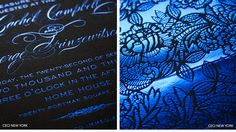Luxury Wedding Invitations by Ceci New York - Our Muse - Bold Blue Wedding - Be inspired by Rachel and George's modern blue wedding in Londo...