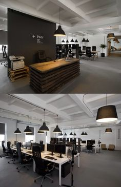 new office interior design. Brilliant Interior Itu0027s Awesome Open Office Plan Coordinated With Real Wood Reception Design In New Office Interior