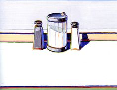 """Sugar, Salt and Pepper"" by Wayne Thiebaud, American, 1920-"