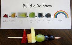 build a rainbow to eat