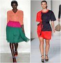 Hot spring and summer trends call for adding some vibrant color blocks and geometric shapes.