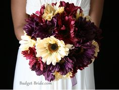 Great fall colors. These would be beautiful with some jewel toned bridesmaids dresses. #fallbouquet #fallwedding