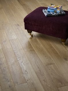 Kersaint Cobb Solid Oak Flooring, Rustic, Brushed, Lacquered, 150x18 mm