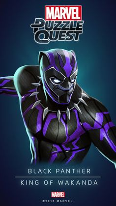 BLACK PANTHER (King of Wakanda) | 4 Stars | Marvel PUZZLE QUEST
