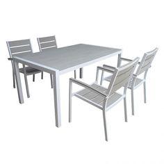 Athina set τραπεζαρία πολυπροπυλενίου 150x90 με 4 πολυθρόνες Table, Furniture, Home Decor, Decoration Home, Room Decor, Tables, Home Furnishings, Home Interior Design, Desk