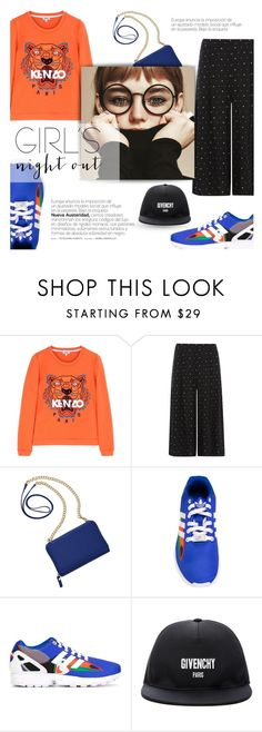 """Untitled #41"" by oktaviarmdhn ❤ liked on Polyvore featuring Kenzo, Dorothy Perkins, TravelSmith, adidas Originals, Givenchy and girlsnightout"
