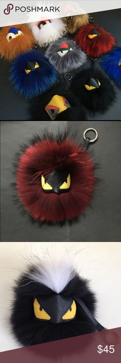 Fendi puff ball keychains. This is a FENDI PUFF BALL.  it can go on anything that has a hook. It can go on your backpack, your purse and even your pants. this is a genuine puff ball.... about all colors available FENDI Other