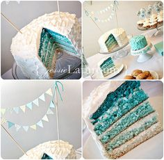 Perfect for Baby C's 1st birthday!! ... ombre cake by Inside The Paper Box, via Flickr