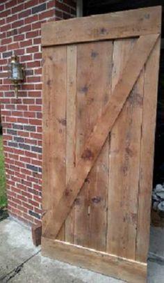 AMISH BUILT HANDMADE UNFINISHED RECLAIMED BARN WOOD CUSTOM INTERIOR BARN DOOR in Antiques, Architectural & Garden, Barn Doors | eBay