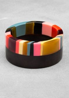 Wood & resin bangle - & Other Stories. Just because it's lovely.