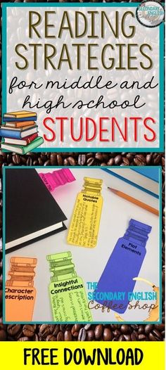 Looking for some new reading strategies? This blog post offers five tips and you will also find some FREE reading strategy bookmarks while you're there! #MiddleSchoolEnglish #HighSchoolEnglish