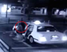Chilling CCTV footage captures 'ghost woman' following man into taxi