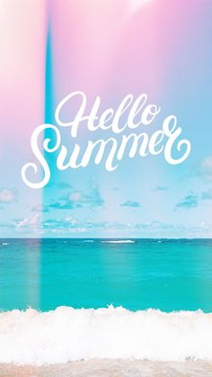 Hello summer aesthetic wallpaper background