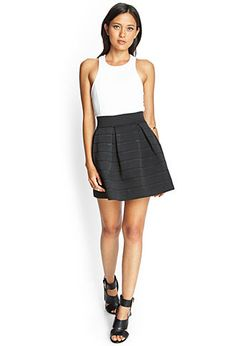 Textured A-Line Skirt | FOREVER21 - 2000120986