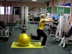 fitball medicine ball squat - YouTube Work with your clients www.fitia.ca