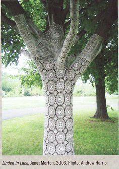 Yarn bombing  via http://lynnberry.files.wordpress.com/2011/01/yarn-bombing0011.jpg