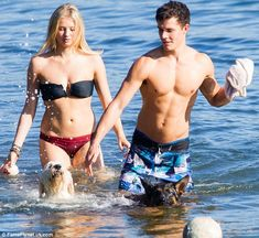 They may play brother and sister in hit Australian soap Home and Away but co-stars Kassandra Clementi and Andrew Morley look like they are far from bickering siblings. Home And Away Actors, Broken Film, Hot Guys Eye Candy, Couple Beach, Moon River, Hallmark Movies, Young Love, Love Home, Body Inspiration
