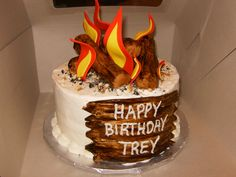 ... , Campfire, Birthday Party Ideas | Campfire Cake, Campfires and Cakes