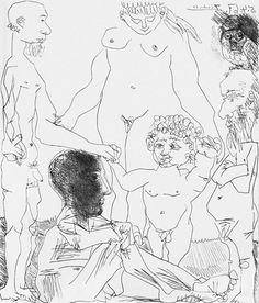 View artworks for sale by Picasso, Pablo Pablo Picasso Spanish). Picasso Sketches, Picasso Drawing, Drawing Sketches, Art Drawings, Pablo Picasso, Picasso Art, Picasso Prints, Trinidad, Cubist Movement