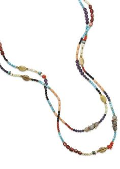 64+2 inch Fashion Necklace ONLY, Amethyst/Coral/Labradorite/Turquoise/Glass/Shell. 64+2 inch Fashion Necklace ONLY, Amethyst/Coral/Labradorite/Turquoise/Glass/Shell. Free Gift Packaging. Leopard-Print, Deluxe Boxes with Black Ribbon, Double-Faced Satin, Hand-Tied Bows. We Pay the State Sales Tax!. USPS First Class Mail with Tracking Number Shipping for Only $2.99. USPS Priority Mail with Tracking Number Shipping for Only $6.99.