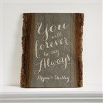 Rustic Romance Personalized Basswood Plank - Romantic Gifts