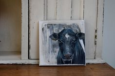 A cow named 'Patch' by JJHowardFineArt on Etsy