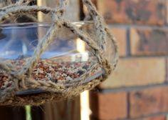 9. Crocheted Basket - 12 Beautiful DIY Bird Feeders ... | All Women Stalk