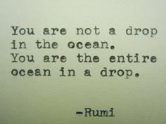 RUMI Poem Hand Typed Typewriter Poem with by PoetryBoutique, $8.00