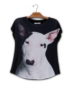 Camiseta Premium Evasê Bull Terrier www.usenatureza.com #UseNatureza #JeffersonKulig