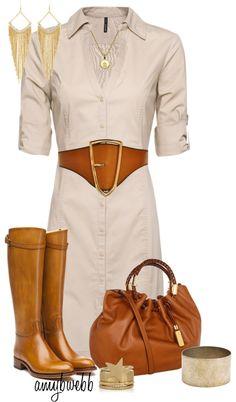 """Shirt Dress 3"" by amybwebb on Polyvore"