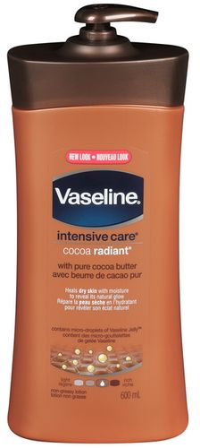 Vaseline Intensive Care Cocoa Radiant Lotion with Pure Cocoa Butter - very moisturizing and smells lovely - too moisturizing for my liking though but great for dry skin