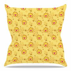 East Urban Home It's All Sunshine by Jane Smith Throw Pillow Size: