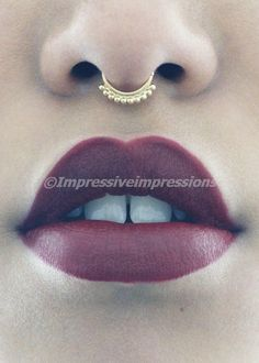 Fake Clip On Non Piercing 2pc set Gold Septum Nose Ring Faux Clicker Clear CZ's #nosering