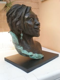 Bronze resin Portrait /commission sculpture by artist Linda Preece titled: 'Dame Shirley Bassey' £2,500