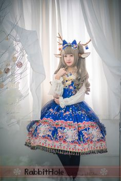 --> New Release: ~on the Mr merry-go-round of Christmas~ Lolita JSK --> Shop it here >>> http://www.my-lolita-dress.com/rabbit-hole-on-the-mr-merry-go-round-of-christmas-lolita-jsk-rh-1